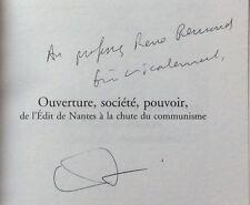 EO ENVOI dédicace E.LE ROY LADURIE: OUVERTURE SOCIÉTÉ POUVOIR Fayard 2005