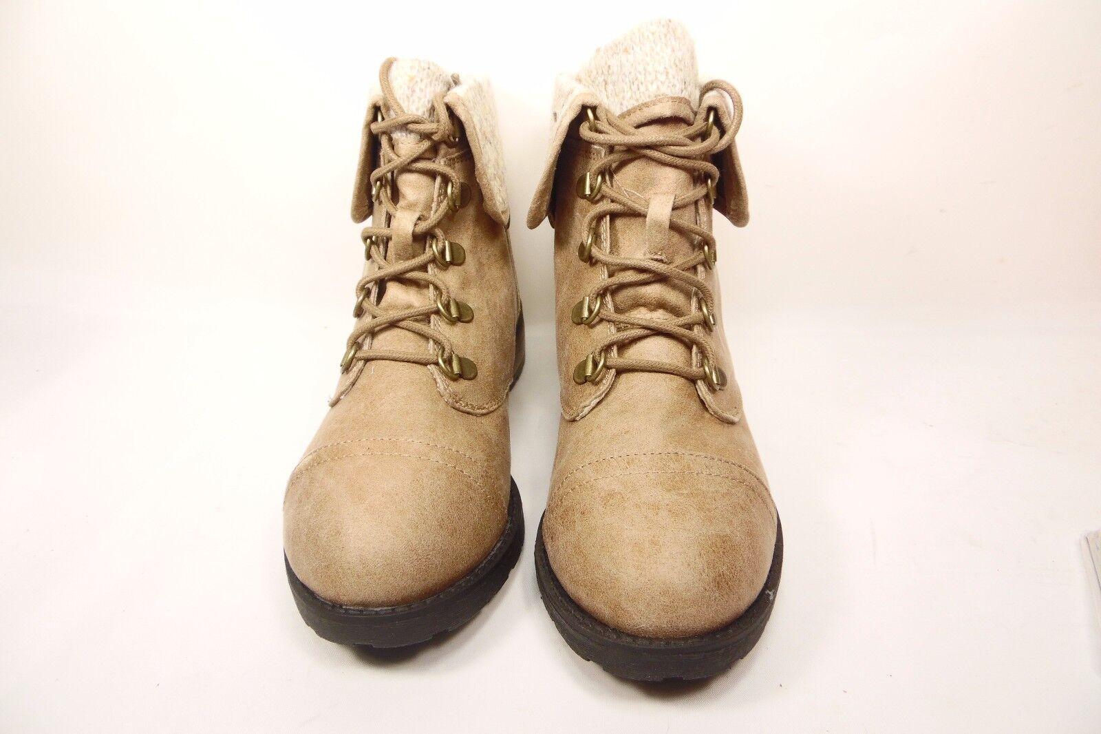 Arizona Daisy Womens Lace-Up Boots Taupe Size 8M