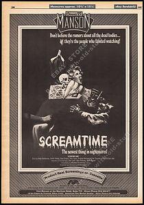 SCREAMTIME-Original-1983-Trade-print-AD-promo-poster-DORA-BRYAN-DAVID-VAN-DAY