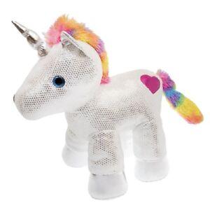 Dan-Dee-Large-Sparkly-Plush-Unicorn-Silver-White-Rainbow-Gift-Present-20-034-Tall
