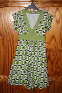 WOMENS-LINED-DRESS-GREEN-BROWN-WHITE-RETRO-STYLE-DRESS-SIZE-SMALL-BRAND-PURPLE