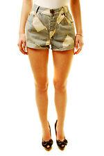One Teaspoon Women's ST Valentine Hawks Shorts Blue 26 RRP $110 BCF611