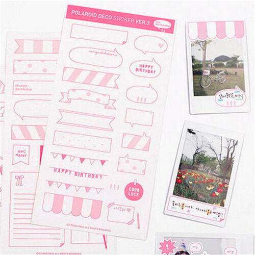 Pretty 6 Sheets DIY Calendar Photo Paper Stickers Scrapbook Diary Planner RASK