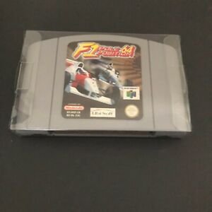 F1 pole position 64 para el Nintendo 64/N64 - en muy buena condición/Vitrina/PROBADO/OBRAS