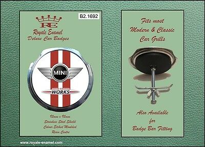 Car Badges Badges & Mascots B2.1692 Beautiful And Charming Sensible Royale Car Grill Badge & Fittings John Cooper Works Mini Cooper S
