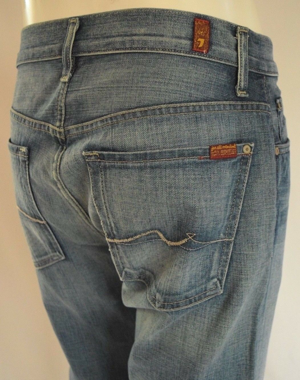 64c0be3a Seven For All Mankind AUSTYN STRAIGHT Jeans Men 31 in LIGHT blueE 7 RELAXED  ouayyw7437-Jeans