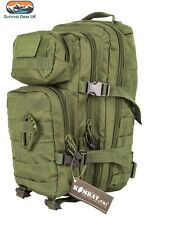 Kombat Green Small Assault back pack / daysack 28 Litre Airsoft Tactical