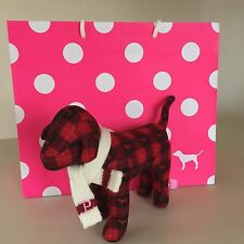 VICTORIA'S SECRET PINK RED PLUSH DOG with Scarf. NEW! VERY UNIQUE!