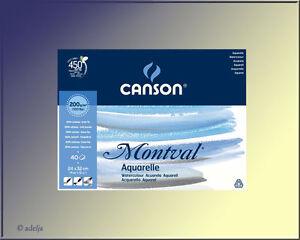 40-Blatt-CANSON-Aquarellpapier-24x32cm-200g-qm-AQUARELLBLOCK-fuer-Aquarellfarbe