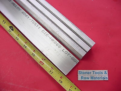 "4 Pieces 3//8/"" X 1-1//2/"" ALUMINUM 6061 FLAT BAR 18/"" long .375/"" Solid Mill Stock"