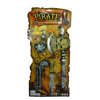 Kids Pirate Set Toys Pistol Axe Coins Eye Patch Fancy Dress Toy Pirate Set