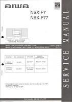 Aiwa Original Service Manual für NSX-F 7 und NSX-F 77