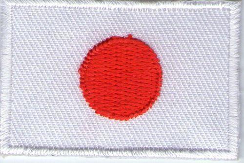 écusson ECUSSON PATCHE THERMOCOLLANT DRAPEAU JAPON JAPON DIMENSIONS 4,5 X 3 CM