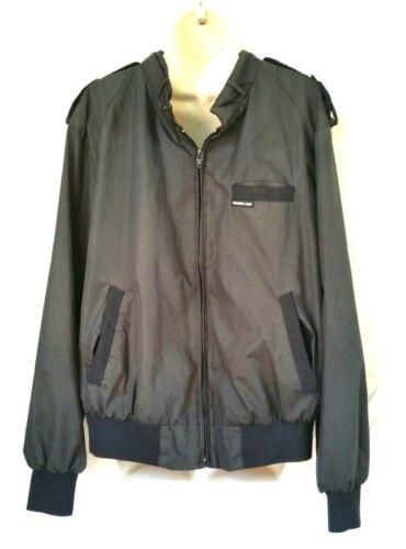 Members Only Mens Size 1X Jacket Windbreaker Charc