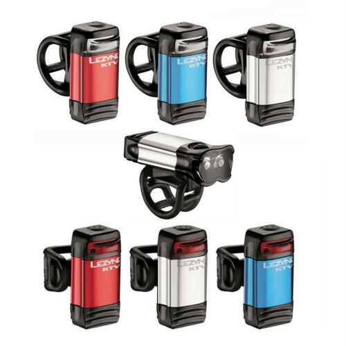 USB rechargeable Lezyne KTV LED bicycle light front and rear all colours