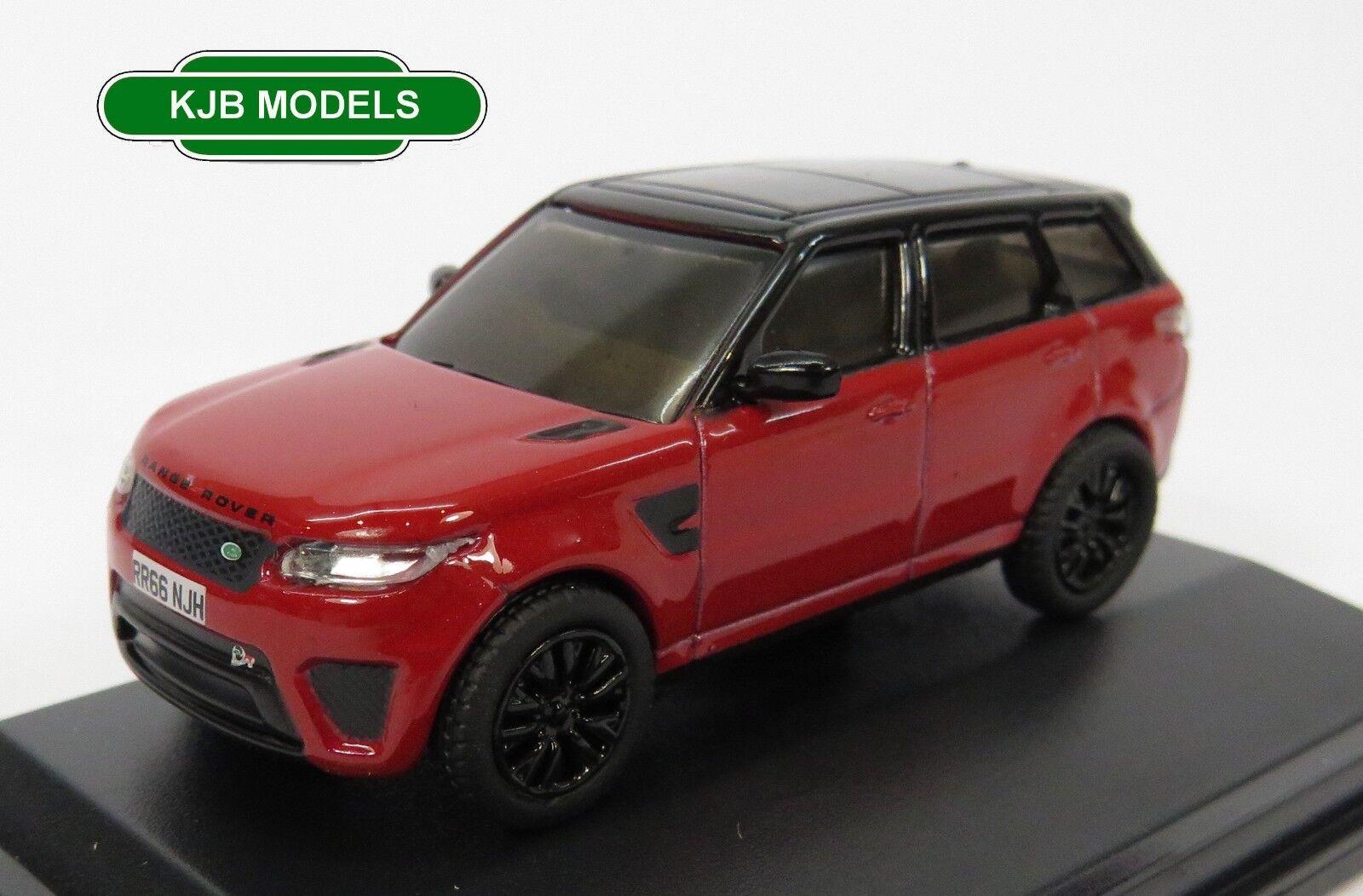 BNIB OO GAUGE OXFORD 1 76 76 76 76RRS003 Range Rover Sport SVR Firenze  rojo  3d163c
