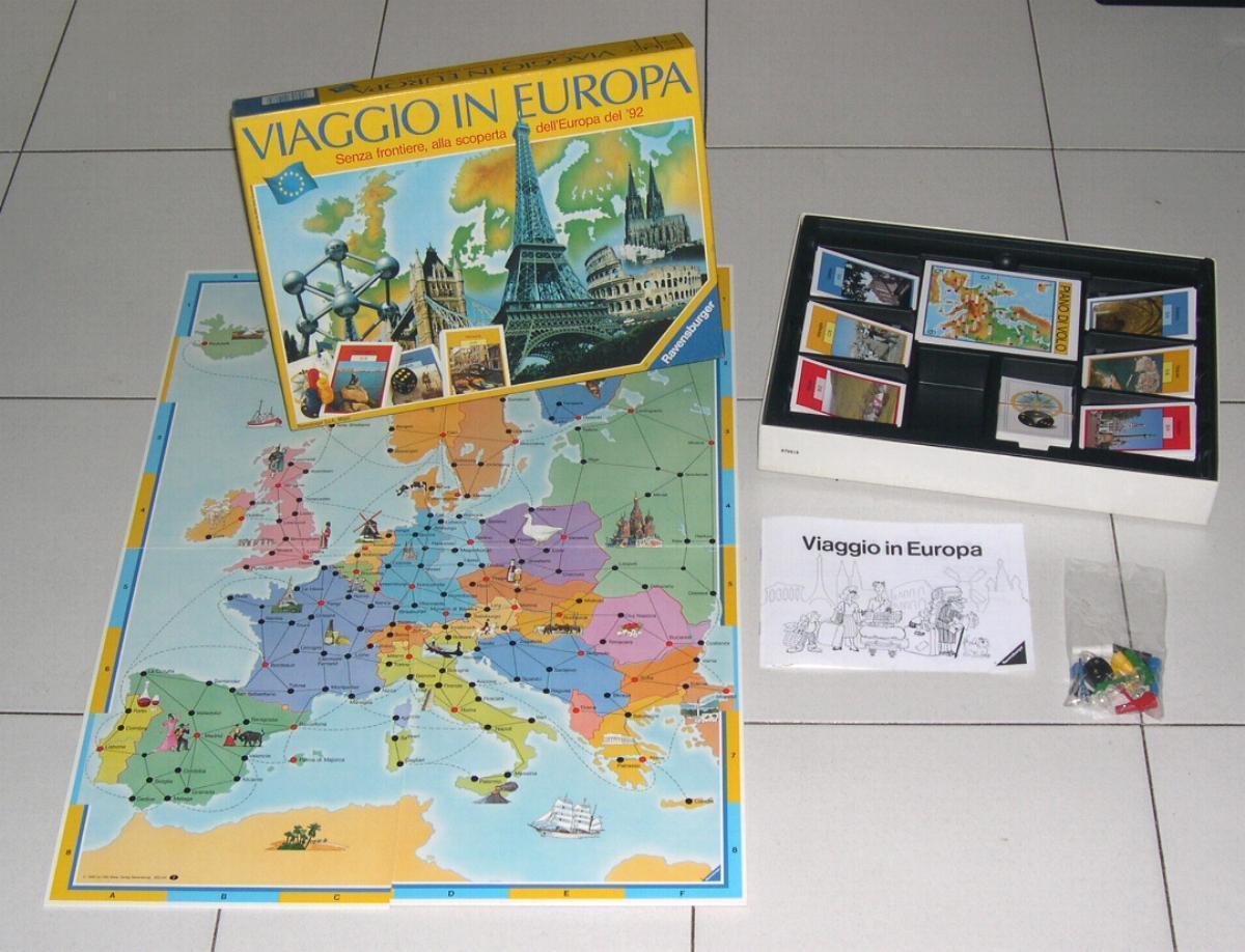VIAGGIO IN EUROPA - Ed Ravensburger 1990 PERFETTO Italia Giro del Mondo