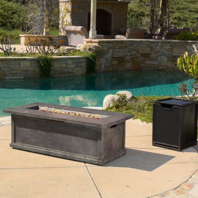 Jordan Metal Propane Fire Pit Table Gray