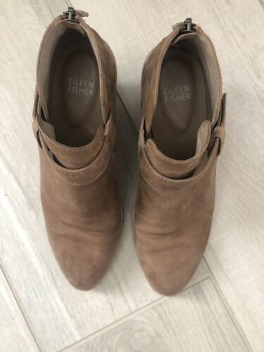 Ives Tan Nubuck Leather Eileen Fisher Booties Boot