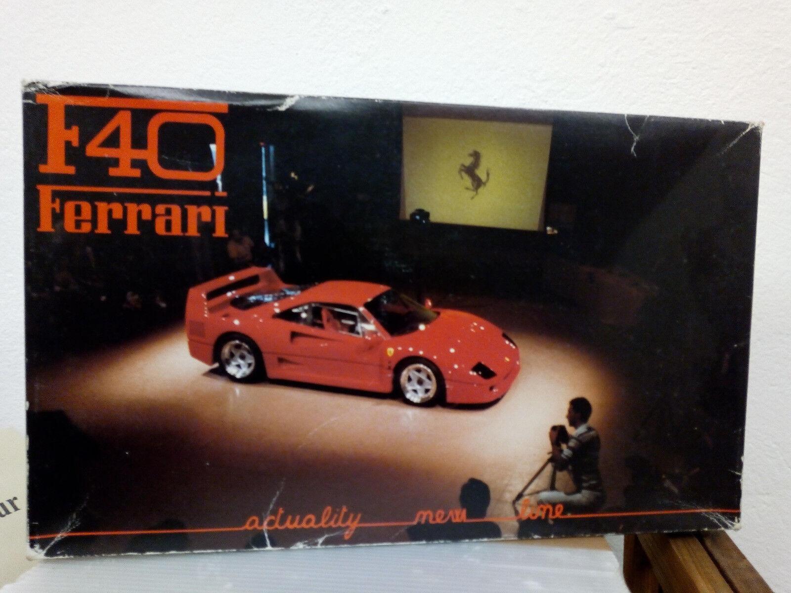 Ferrari f40 súper modelo 1 24, Old Prossoar vintage OVP ahí New montare