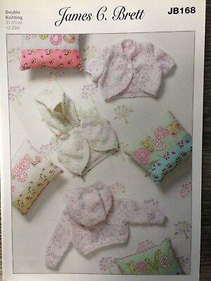 "DK James Brett Knitting Pattern: Baby Cardigans JB155 12-20/"""