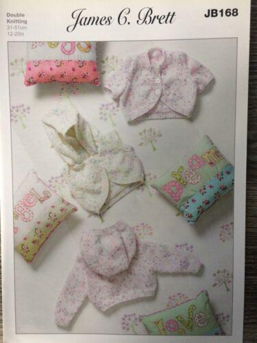 "JB168 James Brett Knitting Pattern: Baby Hooded Bolero Cardigans DK 12-20/"""