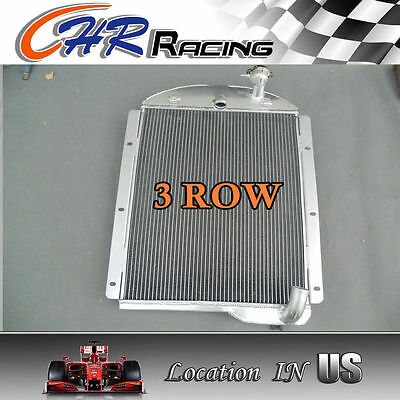 NEW ALUMINUM RADIATOR 3 ROW FOR 1941-1946 Chevy Pickup Truck 41 42 43 44 45 46