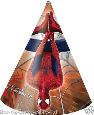 Amazing SPIDERMAN 2 Party HATS x 6 Superhero Boys Birthday Party Decorations