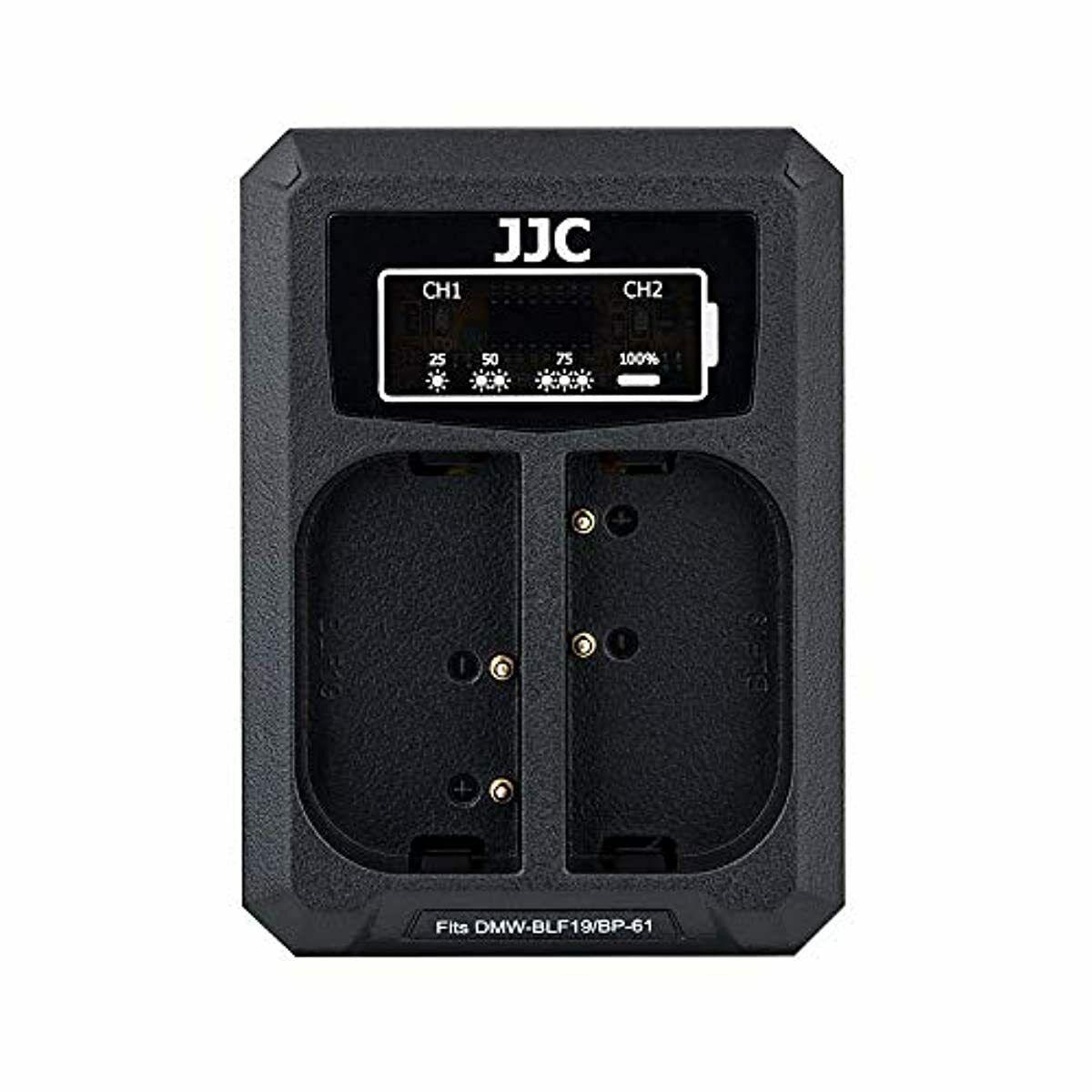 JJC USB Dual Battery Charger for Panasonic GH5s GH5 GH4 GH3, Sigma sd Quattro, s