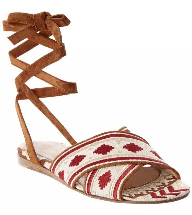 Gianvito Rossi Donna Shoes Size 38 NIB Sandals Flats Gladiator