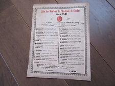 CUISINE GASTRONOMIE Liste des membres de l'Académie de cuisine 1901 LACAM GARLIN