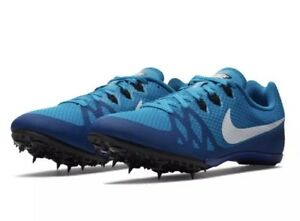 Nike Zoom Rival M 8 Men s Track Sprint Spikes Shoes 806555 414 Blue ... 82069cda89f42