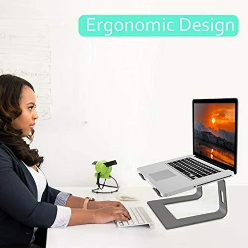Details about  /Laptop Stand Aluminum Computer Riser Notebook Elevator Holder Durable Space Grey