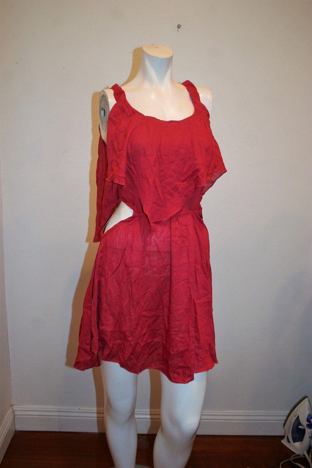 NEW INDAH  FLIRTY MINI DRESS  SIDE CUTOUTS SLEEVELESS Größe S
