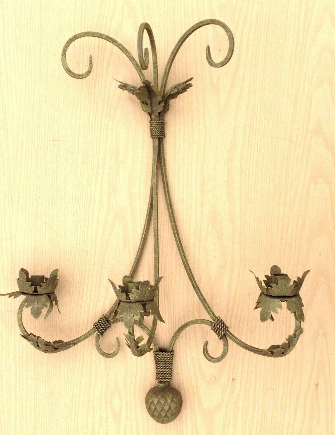 2 Iron 3 3 3 Candle Wall Sconce Holder Candelabra 28  X 20  Each 5c2640