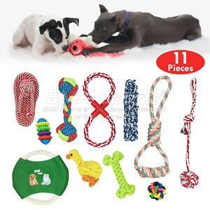 ROPE-TOYS-BEST-DOG-PUPPY-CHEW-PET-TOYS-UK-STOCK-SET-11-PIECES