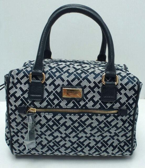e620cbb40c TOMMY HILFIGER Woman's Handbag *Navy Blue/White/Gold *Satchel Tote Purse New