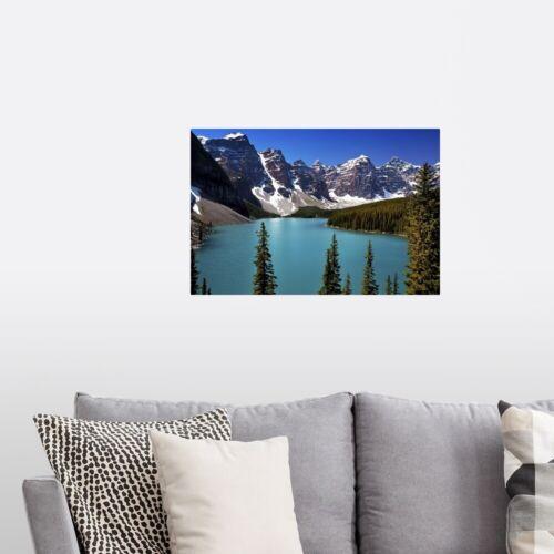 Moraine Lake Poster Art Print Home Decor Banff National Park