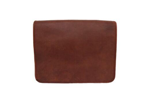 Vintage Leather Messenger Bag 15.6 Inch Laptop Business Crossbody Shoulder Bag