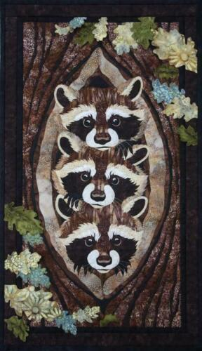 Raccoons Toni Whitney Fusible Applique Quilting Quilt Pattern Who What Where