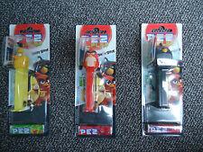 """3 PEZ Spender """" Angry Birds """" - in ungeöffneter Originalverpackung"""
