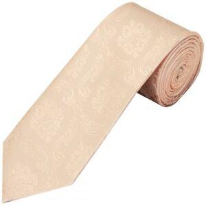 Light Peach Paisley Classic Men's Tie Regular Tie Normal Tie Wedding Tie