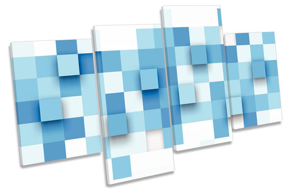 Abstracto bloques rojo de píxeles Multi tela pa rojo bloques  arte En Caja Enmarcado 26d3ca
