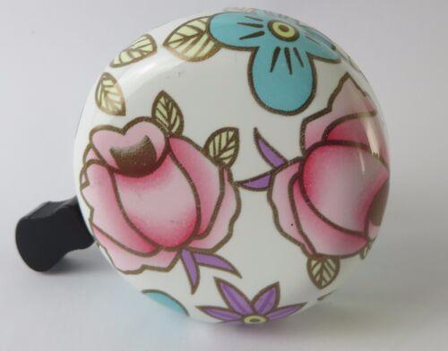 Vélo sonnette vélo cloche sonnerie amusant roses fleurs