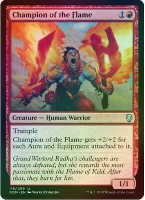 FOIL CHAMPION OF THE FLAME X4 Dominaria DOM Magic MTG MINT CARD