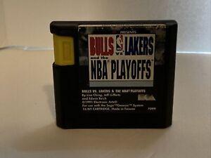 Bulls vs. Lakers and the NBA Playoffs (Sega Genesis, 1991) Tested Free Shipping