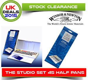 BNIB-Winsor-and-Newton-Cotman-Studio-Watercolour-Studio-Set-45-Half-Pans-Gift