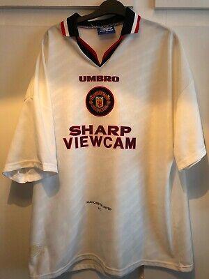 * XXL * 199697 Manchester United Umbro Lejos Camiseta De Fútbol | eBay
