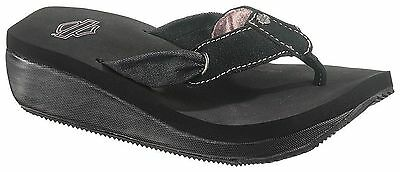"New! Women's Harley Davidson® - ""Hally"" Sandal/Thong in Black"