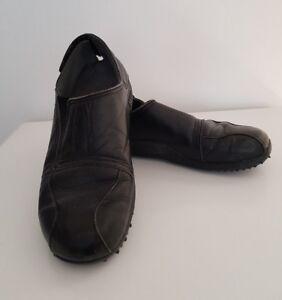 diesel tera men's/ladies real leather black casual shoes
